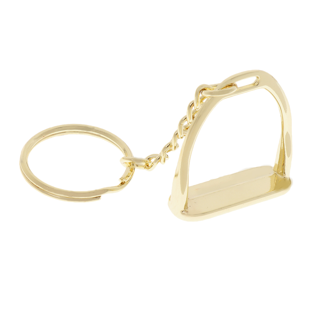 Zinc Alloy Keychain Key Ring Stirrup Men Business Bags Women Handbags Decoration Outdoor Horse Riding Equipment Supplies