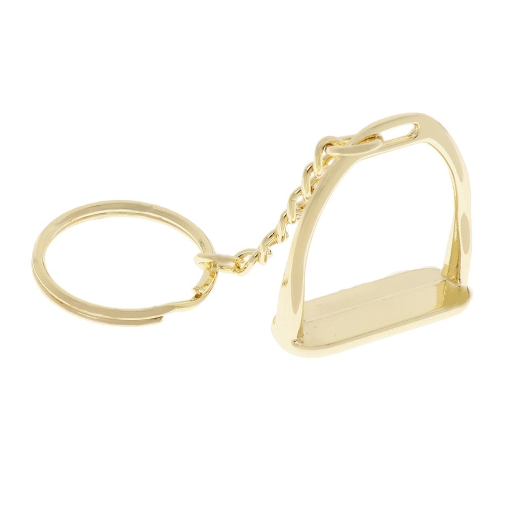 Zinc Alloy Keychain Key Ring Stirrup Men Business Bags Women Handbags Decoration Outdoor Horse Riding Equipment Supplies