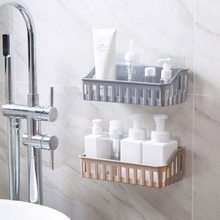 Non-trace nail hole bathroom shelf from the toilet plastic hanging shelf receive wash toilet articles(China)