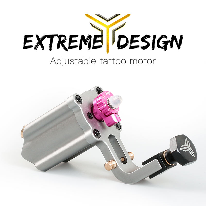 Rotary Tattoo Machine Adjustable Stroke Direct Drive RCA Cord Professional Gun Rotary Tattoo Machine Adjustable Stroke Direct Drive RCA Cord Professional Gun