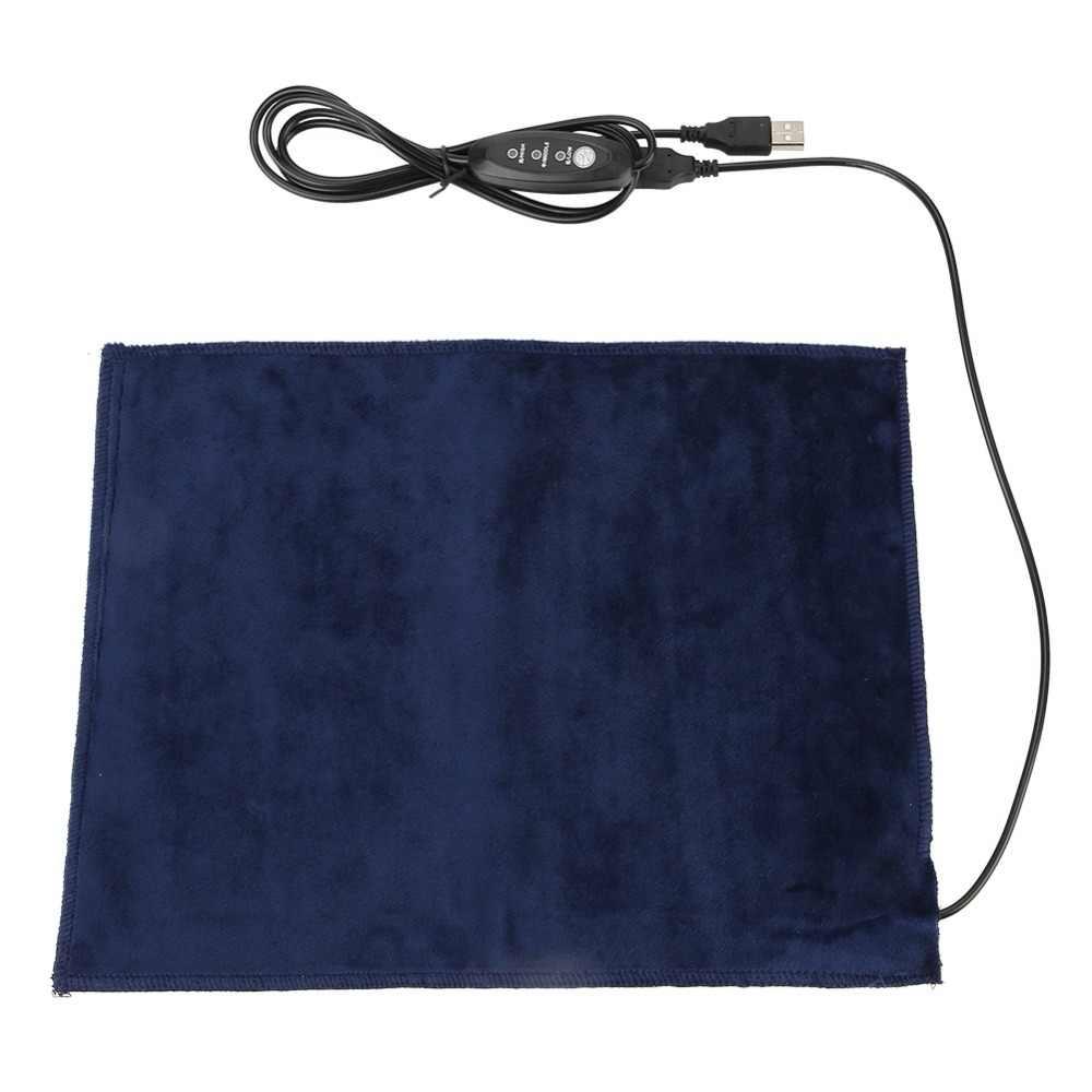 5V2A USB Электрический Ткань Нагреватель Pad нагревательный элемент для одежды сиденье обогреватель для домашних животных 45 градусов