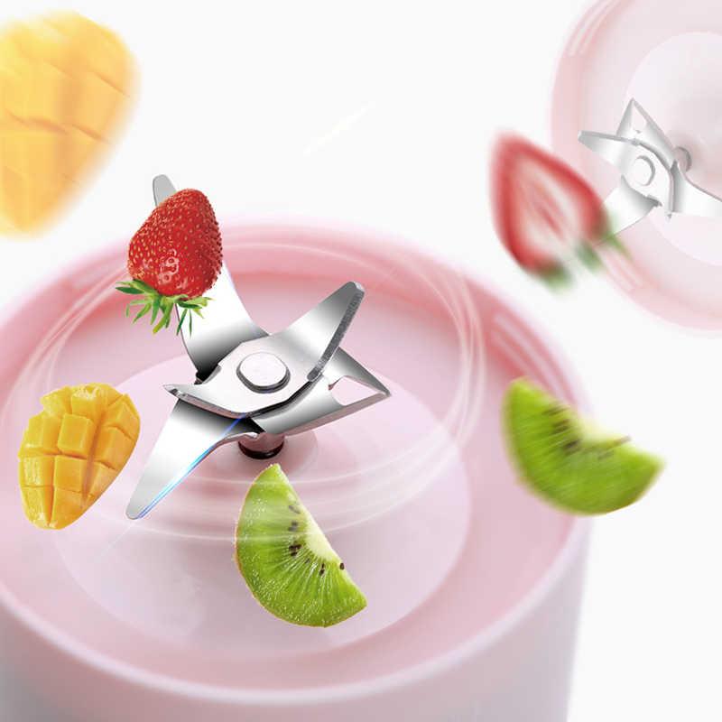 Egogo Copo Espremedor Elétrico Mini Usb Portátil Recarregável Fabricante Shaker Liquidificador Espremedores de Frutas Laranja Extrator 6 Lâmina de Folha