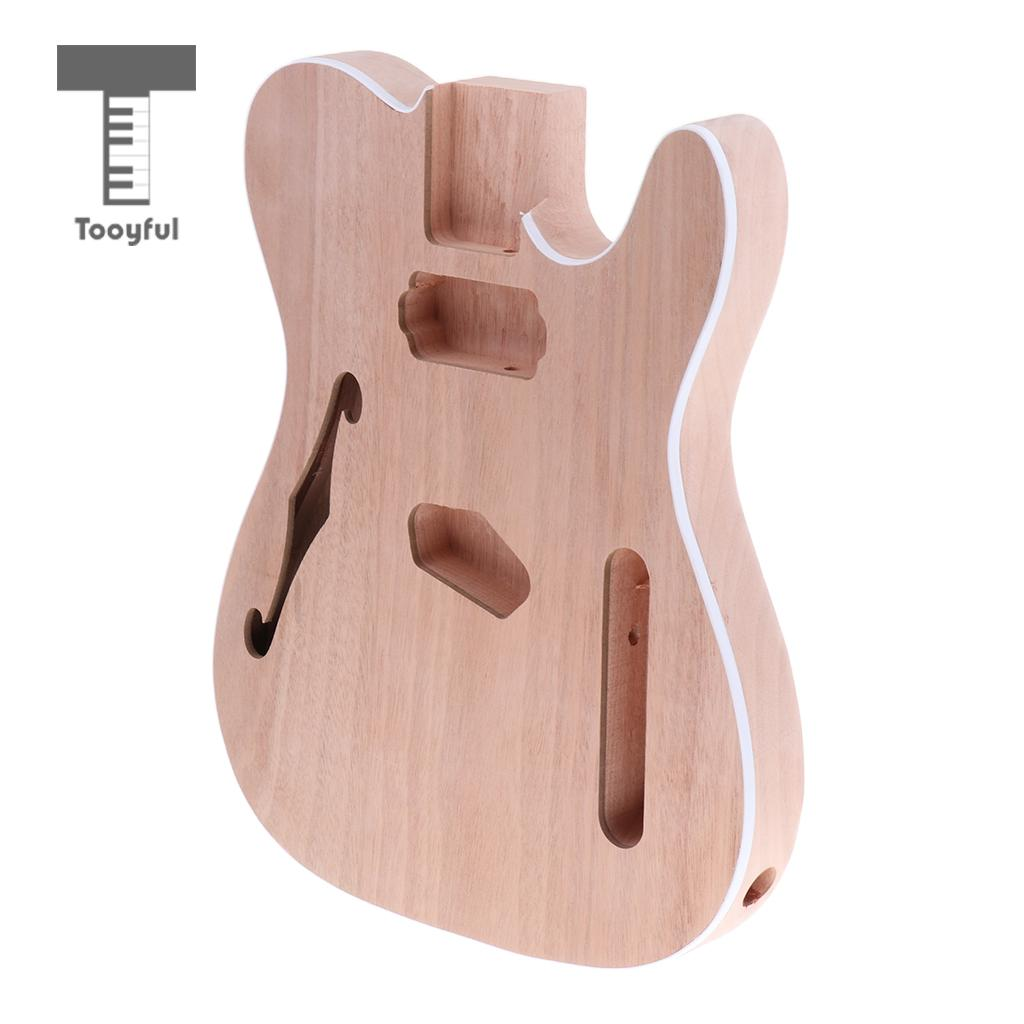 Tooyful Wooden Unfinished Electric Guitar Body for Telecaster Guitar DIY Parts fender squier jim root telecaster flat white