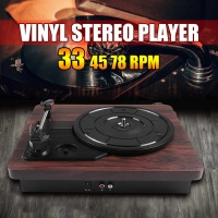 33, 45, 78 RPM Record LP Player PVC Antique Gramophone Turntable Disc Vinyl Audio RCA R/L 3.5mm Output Out USB