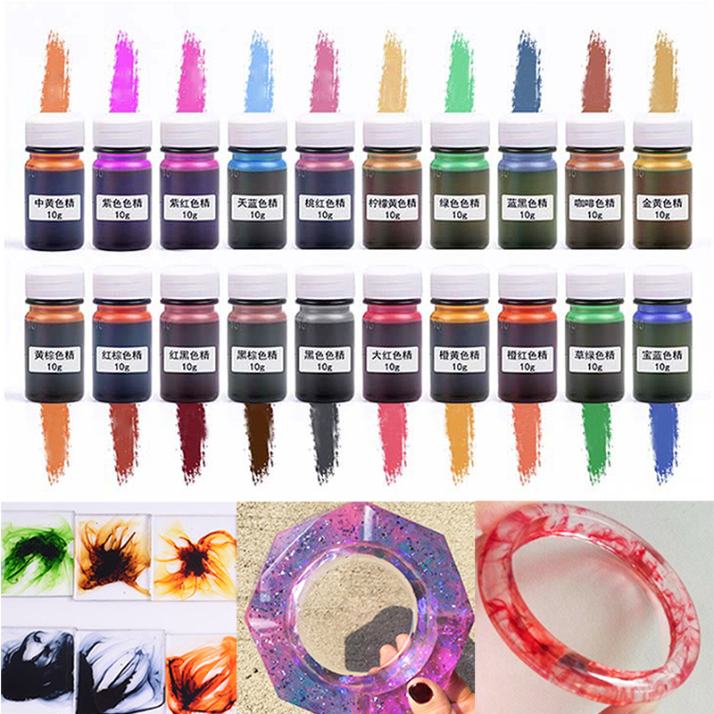 UV   DIY  Dye  Epoxy  Pigment   Colorant Resin 10g  Resin   Craft Mixed  Color