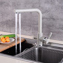 Faucet Sink Mixer Vessel Brass-Purifier Dual-Sprayer Kitchen Drinking-Water Tap FILTERED