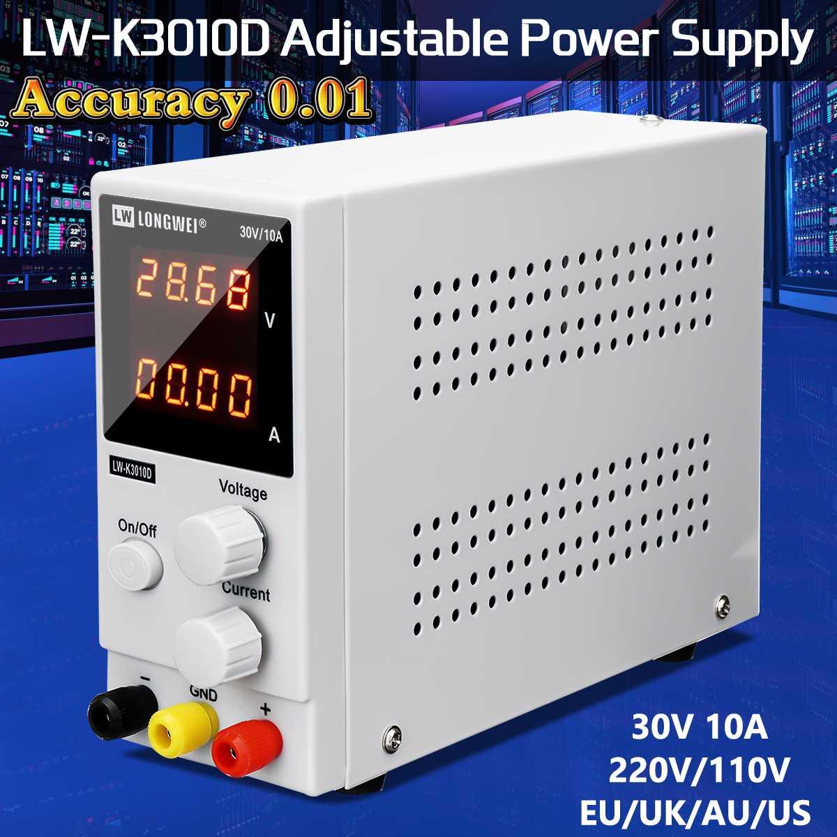30 V 10A LED affichage réglable régulateur de commutation DC alimentation ordinateur portable réparation réparation 110 V/220 V précision 0.01 double écran LCD