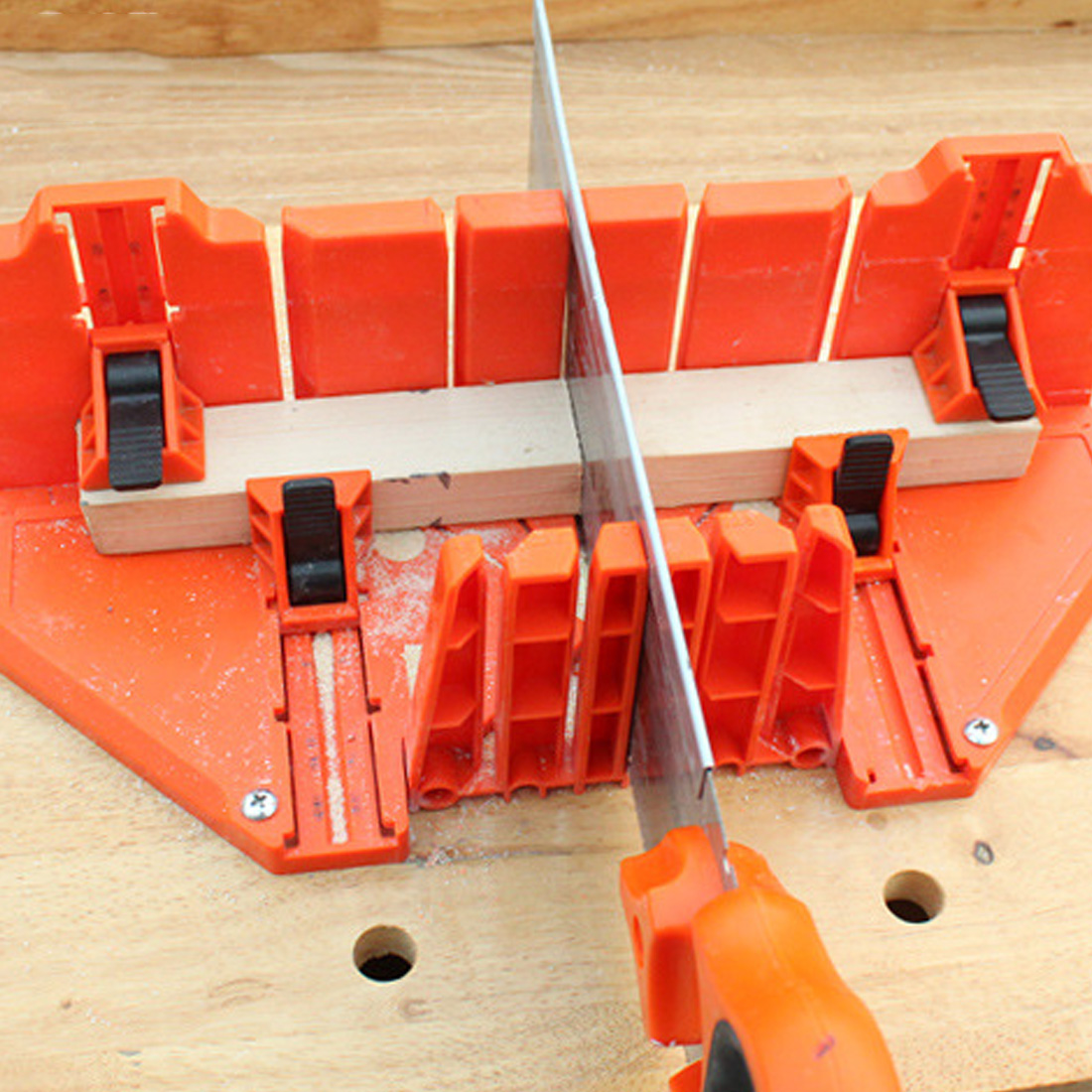 Clamped-Box Saw-Cabinets Hand-Tools Woodworking Multifunction 12-14inch Miter DIY Home