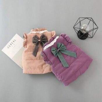 الحلو طفل الفتيات طفل الشتاء معطف سترة بلا أكمام صدرية قميص 0-4T