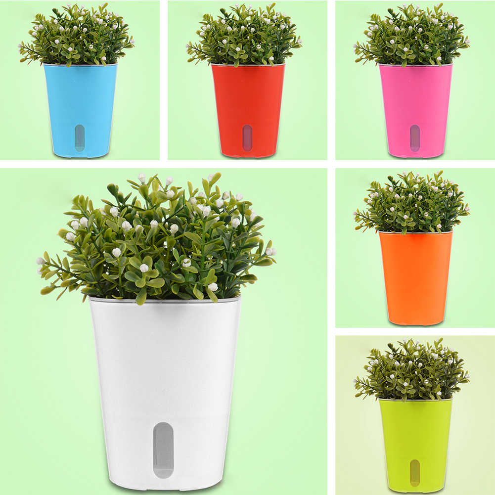 Zdys Plastic Plants Flower Pots Set 4pcs 2pcs 1pcs Pot Holder Coloured Herb