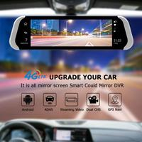10inch 3G/4G Car Rearview Mirror DVR Camera Dual Lens Android 5.1 Bluetooth Dash Cam Video Recorder With Night Vision Function