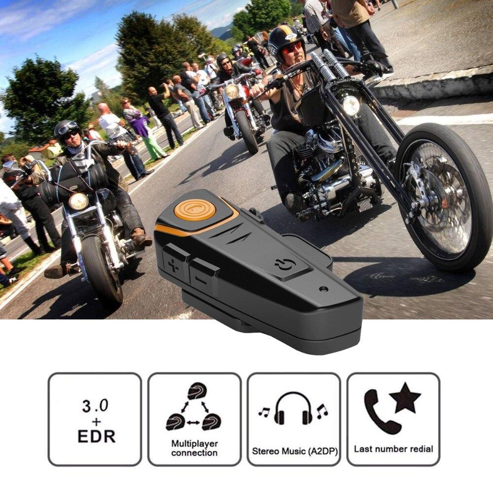 100% Original BT-S2 Pro Motorcycle Intercom Helmet Headsets Wireless Bluetooth Interphone Handsfree Waterproof FM Headphone