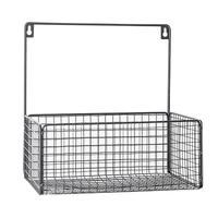 Japanese style Wrought Iron Storage Basket Bathroom Punch free Hanging Storage Basket Kitchen Storage Hanging Basket