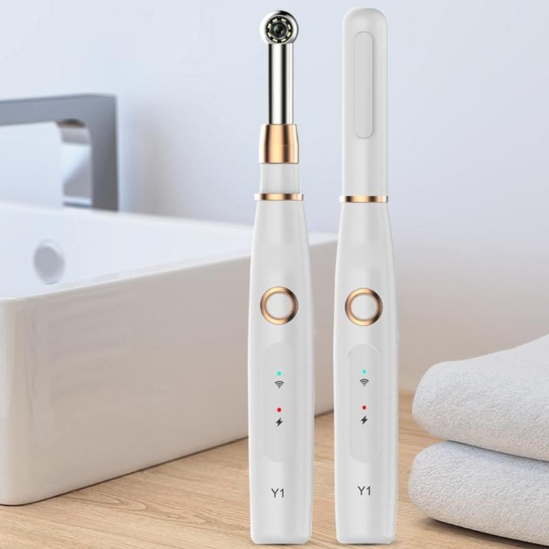 WIFI Intraoral Camera 720P HD WIFI Dental Intraoral Camera Waterproof Endoscope Teeth Mirror LED Light Monitoring Inspection
