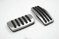 Car Accessory For Chevy Chevrolet Cruze Malibu Aveo Trax AT Gas Accelerator Brake Footrest Pedal Pedales Stickers Plates Pad