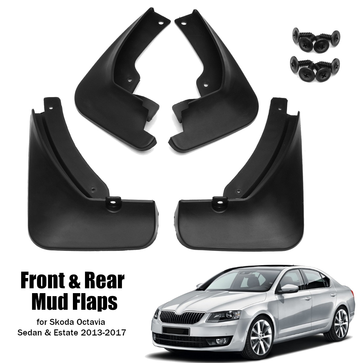 4Pcs Front/&Rear ABS Splash Guards Mud Flaps Fender For TOYOTA HIACE 2016-2018