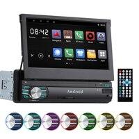 1 Din автомобильный Радио 7 HD сенсорный экран Android 6,0 зеркальный дисплей автомобиля стерео MP5 Поддержка gps навигация заднего вида Bluetooth камера