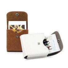 Fujifilm Instax Mini 8 9 Retro deri düğme çantası fotoğraf çantası SQ10 SQ6 SQ20 x10 Fujifilm Mini 25 depolama kamera çantası