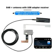 DAB002 Автомобильная DAB антенна w USB адаптер приемник для Android автомобильный стерео плеер SMA DAB приемник коробка авто радио антенна антенный кабель