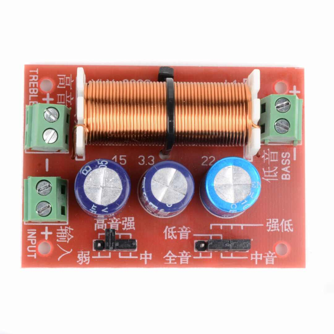 Filtros de Cruce de Altavoz Divisor de frecuencia de Audio de 2 v/ías de Graves Agudos Ajustables