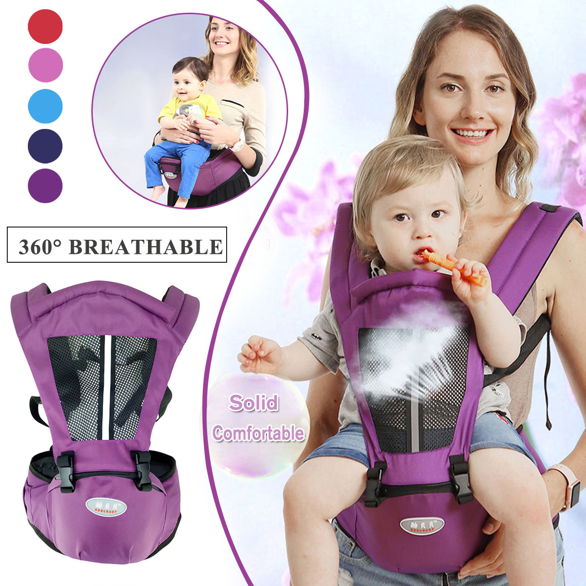 Newborn Baby Carrier Kangaroo Toddler Sling Wrap Portable Infant Hipseat Baby Care Waist Stool Adjustable Hip Seat 0 36 Months|Backpacks & Carriers| |  - title=