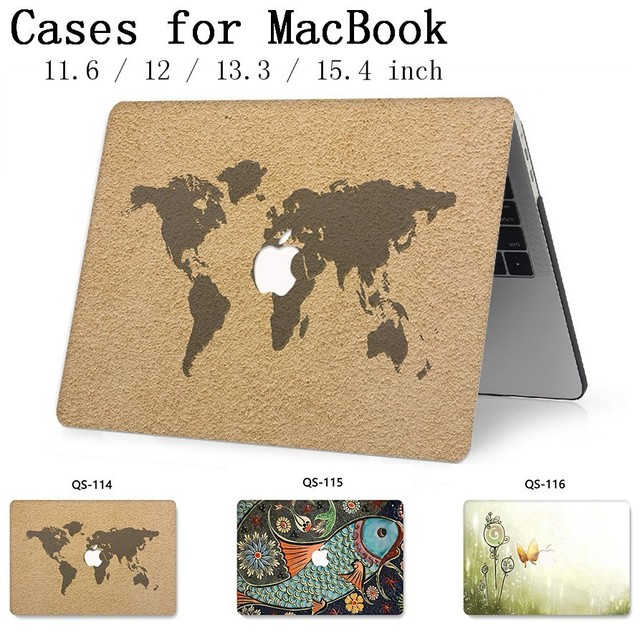 For New Notebook MacBook Laptop Case Sleeve For MacBook Air Pro Retina 11 12 13.3 15.4 Inch With Screen Protector Keyboard Cove