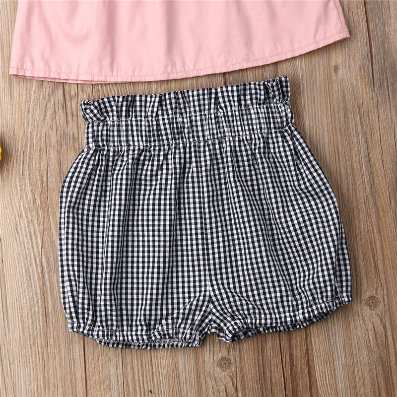 fddebd96c911e US $4.42 10% OFF|1 6T Toddler Kids Baby Girl Clothes set Boho Beach Summer  Off Shoulder Top Shorts set Cute Princess Playa Kawaii Outfit-in Clothing  ...