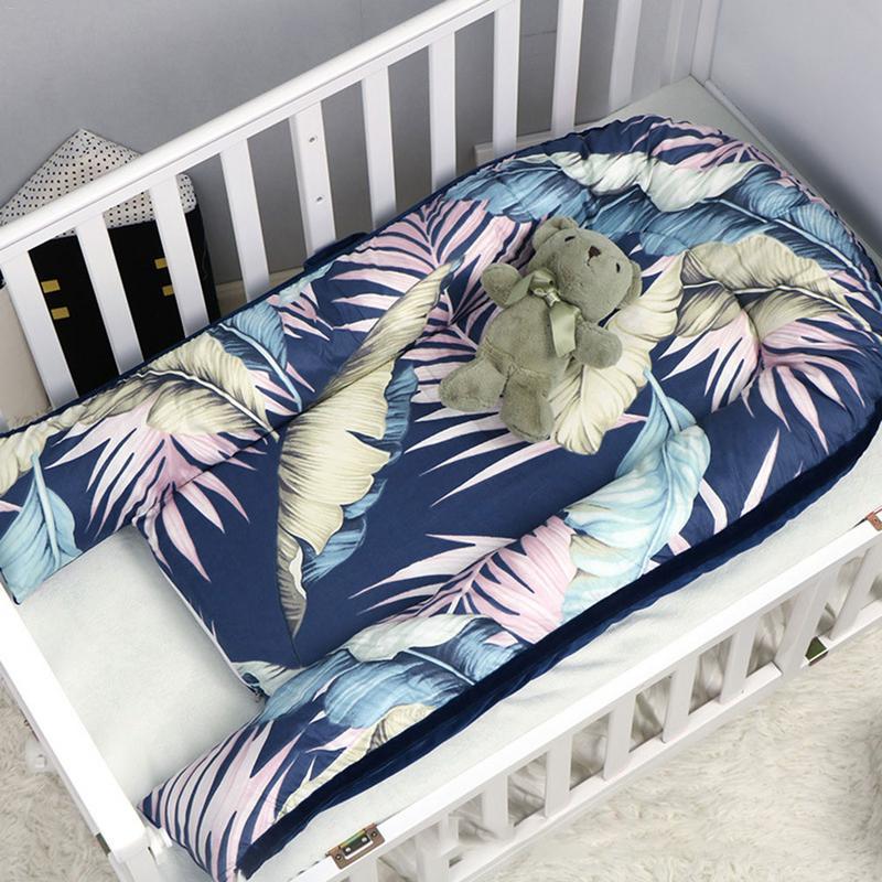 Lit bébé nid berceau Portable amovible et lavable lit de voyage pour enfants bébé enfants flanelle coton velours berceau Mattres - 4