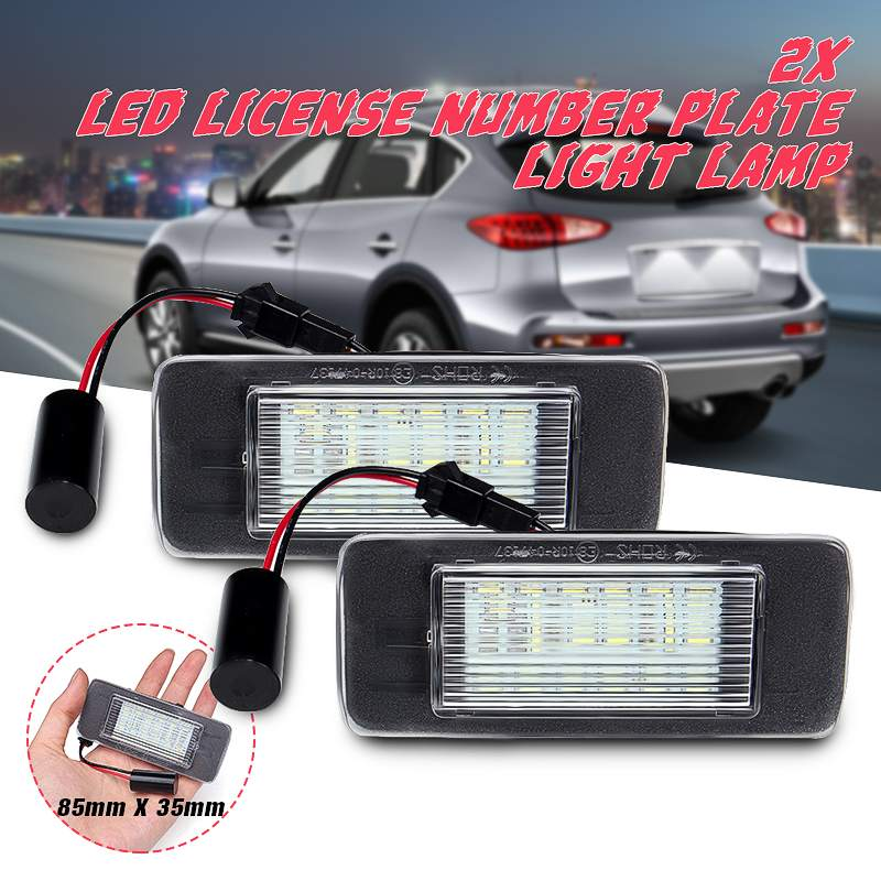 2x DELUX Chrome Voiture Plaque D/'immatriculation Licence surround pour Mercedes Vito Mk2 W639