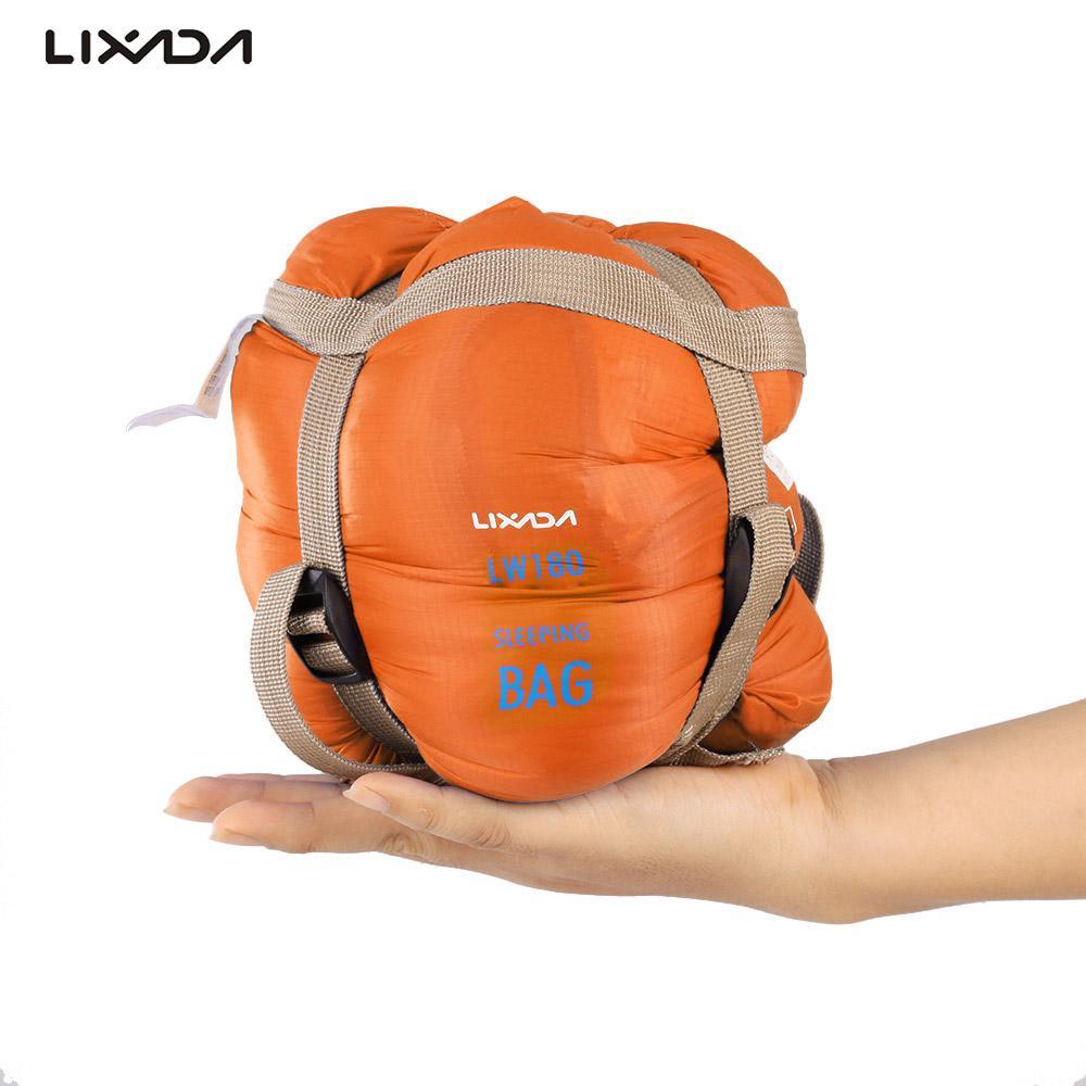 LIXADA 190*75cm Camping Outdoor Envelope Sleeping Bag Adult Mini Walking Beach Sleeping Bags Ultralight Travel Hiking Bag