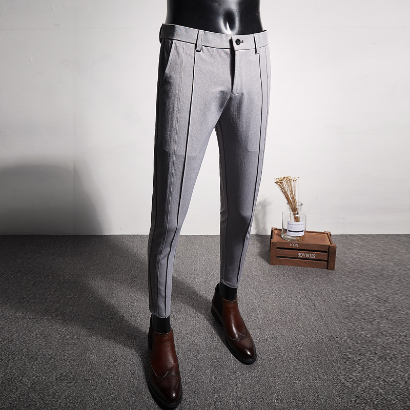 2019 Casual Formal Wear Men's Trousers High Quality Suit Pants Men Brand New Slim Fit Boutique Business Mens Dress Pant Simple