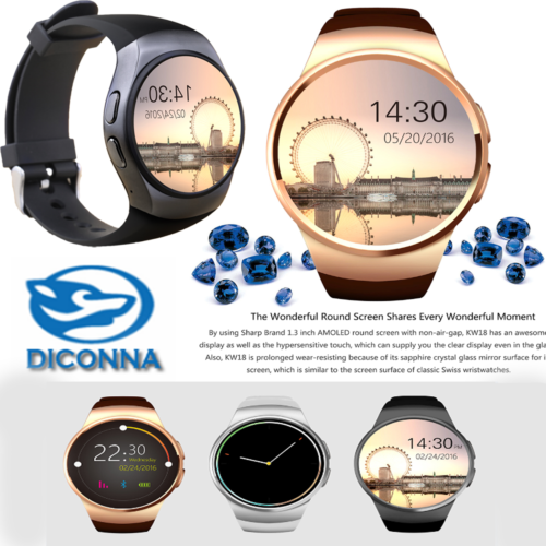 New Waterproof Smart Bluetooth Watch 16GB Bracelet Sports Meter Heart Rate Test