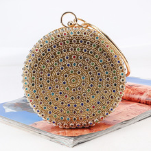 Yicana 2018 Spring  new style women Evening bags Golden colors Diamonds bag