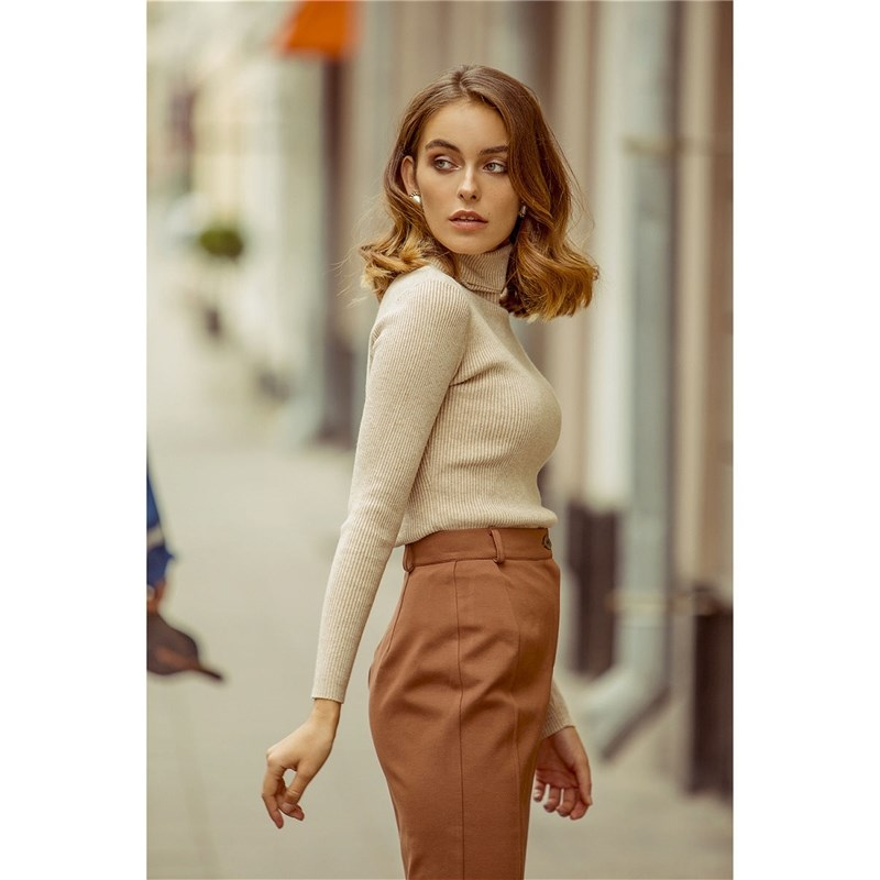 Turtleneck C.H.I.C female CHIC turtleneck puffed sleeve sweater