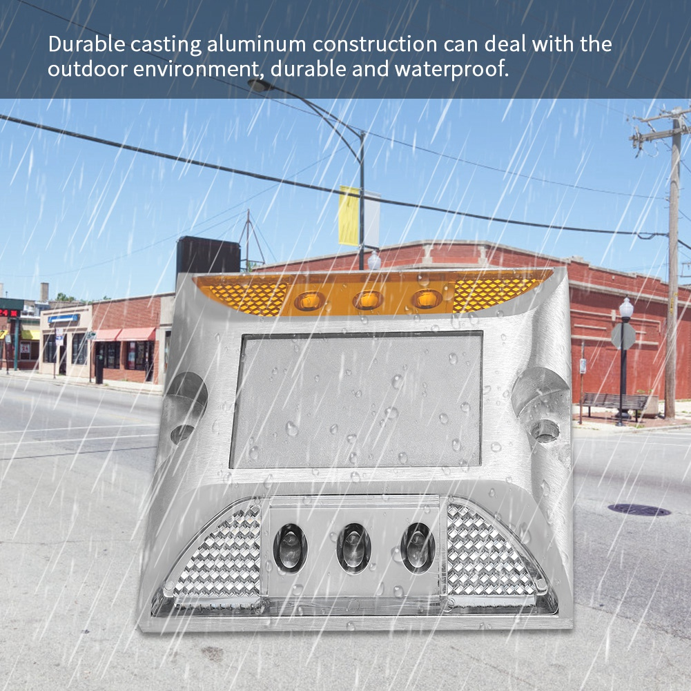 Self-Conscious 12-24v Casting Aluminum Road Stud Light Outdoor Solar Powered Lamp For Pathway Road Hot Sale 2019 Security & Protection Roadway Safety