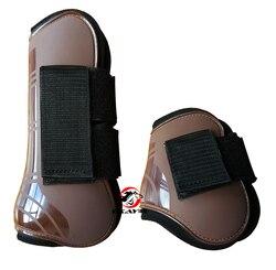 Envío Gratis botas de neopreno de caballo, cáscara de PU. par de protección de salto de caballo