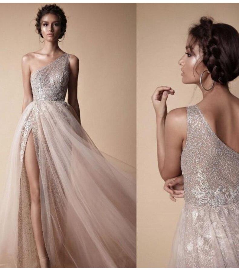 SSYFashion новое вечернее платье на одно плечо сексуальные без рукавов с кружевным орнаментом Бисероплетение Lllusion пляжное вечернее платье Форм