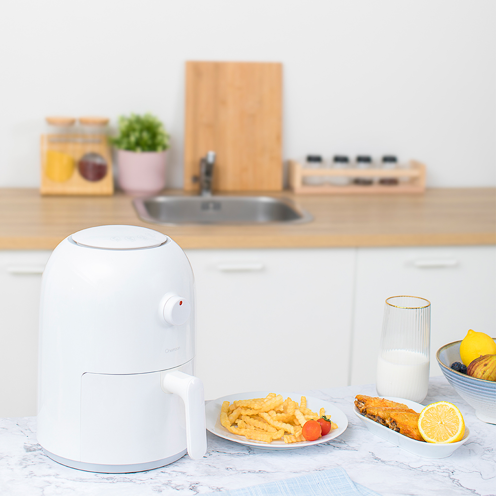 купить Xiaomi Mijia 2L 800W Onemoon Air Fryer Household Intelligent No Fumes High Capacity Electric Fryer French Fries Machine онлайн
