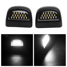 2019 New Sale 18LED License Plate Light Housing IP68 For 2000-06 Chevy Tahoe Suburban GMC Yukon Black inner cover Matte/ glossy for 2007 2010 tahoe suburban 1500 2500 avalanche upper grille mesh glossy chrome new usa domestic free shipping