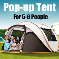 Portable Outdoor Instant Auto Open Tent Family Waterproof Camping Tent Foldable Backpacking Fishing Accessories 5 6 Person