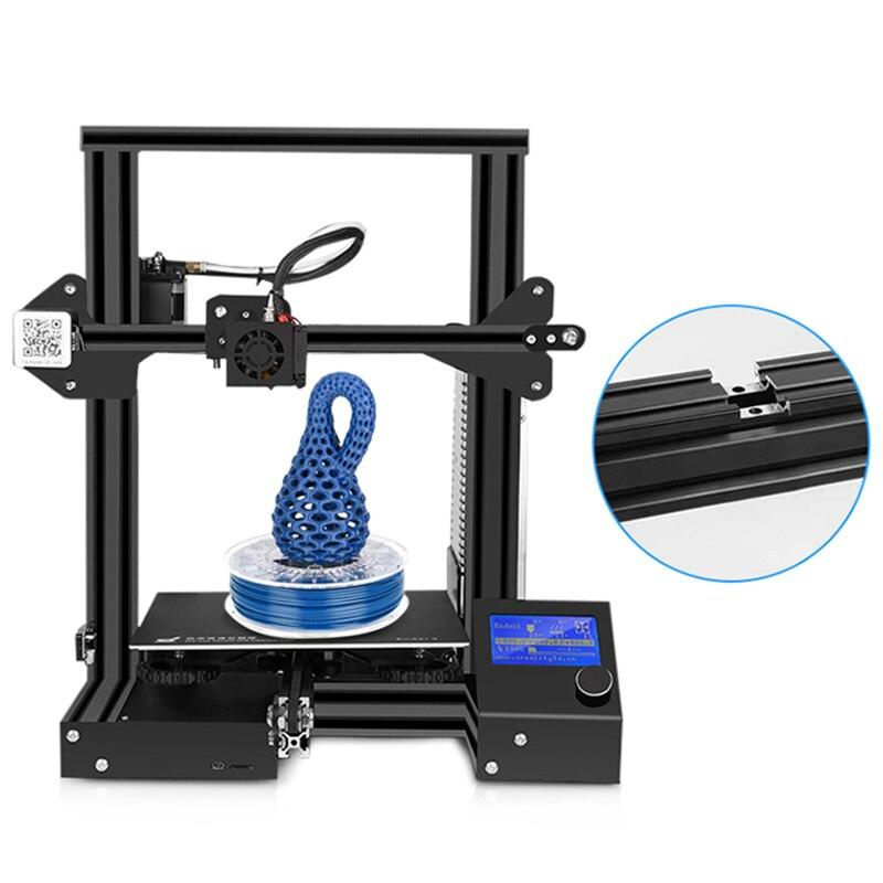 Kit de impresora Creality Ender 3 de escritorio 3D impresora Prusa I3 DIY 220x220x250mm MK8 extrusora 1,75mm 0,4mm boquilla de impresión - 5