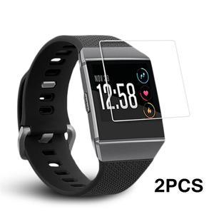Image 2 - Gorąca sprzedaż 2 sztuk inteligentna bransoletka HD przeciwwybuchowe Ultra cienkie ekrany ochronne wyraźny widok dla Fitbit Ionic Smartwatch nowy 2019