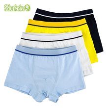 4 Pcs lot High Quality Cotton Kids Boys Underwear Pure Color Shorts Panties For Baby Boys