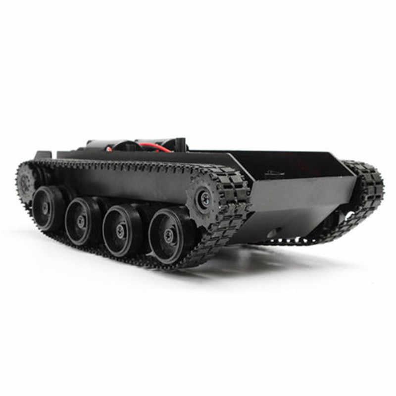 3-7 v 스마트 탱크 로봇 섀시 장난감 키트 arduino 130 모터 탱크 자동차 섀시 크롤러 교체 부품 용 경량 충격 흡수 장치