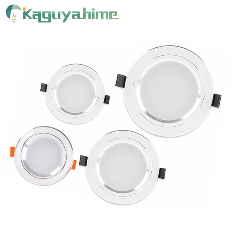 Kaguyahime LED Panel Light Recessed High Bright 3W 5W 10W 15W AC 220V 110V Round Panel Lamp Lighting For Home Kitchen Bathroom