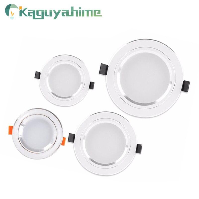 Kaguyahime Panel LED luz empotrada de alta brillante 3W 5W 10W 15W AC 220V 110V  panel redondo lámpara de iluminación para el hogar cocina Baño