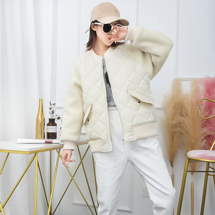 Giacca Inverno 2018 Outwear Femminile Bomber Donne bianco Il Lunga Autunno A Nero Caldo Parka Patchwork Casual Manica H1xEnqRxwX