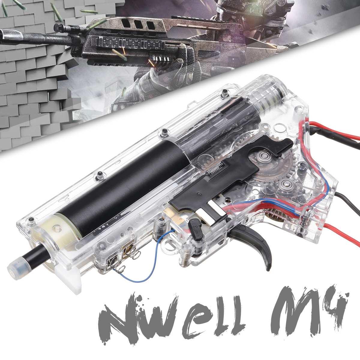 Kit de atualização de Metal Caixa De Velocidades + Fio Para Nwell M4 Blasters de Jogo Bola de Gel de Água Armas de Brinquedo Acessórios de Reposição