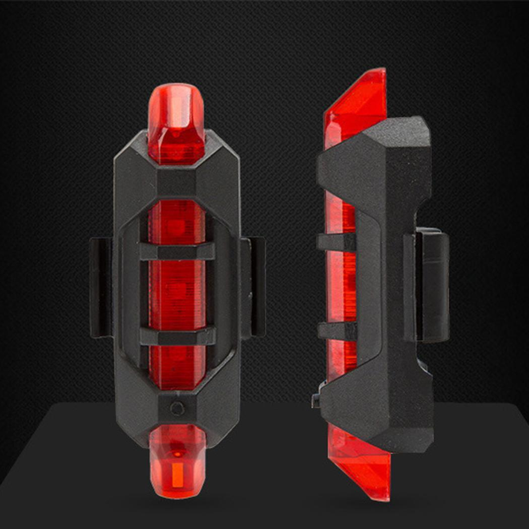 5 LED USB Rechargeable Bike Tail Light Bicycle Safety Cycling Warning Rear Lamp~