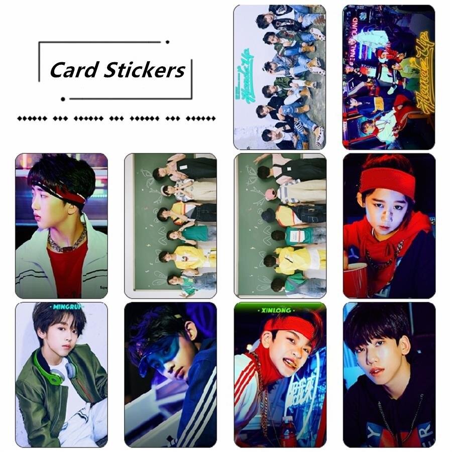Cpop  Boy Story Handz Up Photo Stikcy Card Photocard Crystal HD Photo Card Sticker 10pcs/set